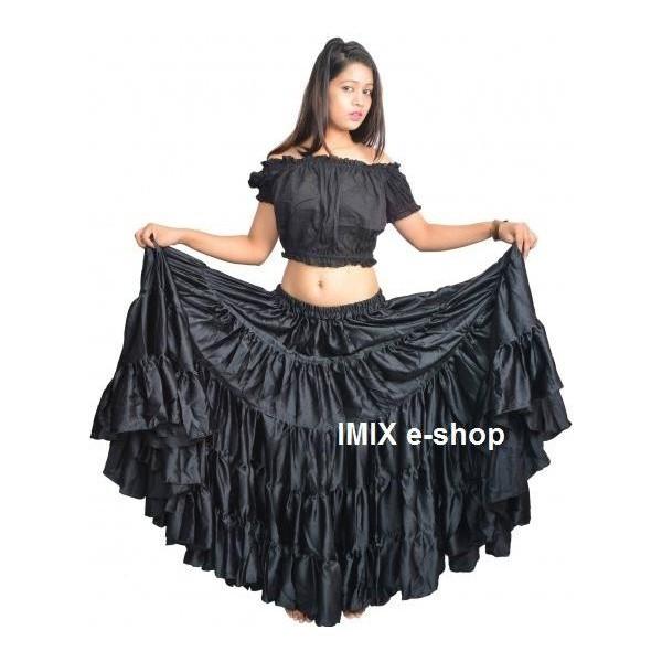 Gypsy, Flamenco, Tribal pětidílná sukně 22 m
