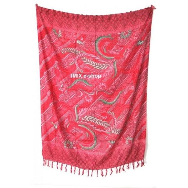 Sarong pareo PÁVI- červená