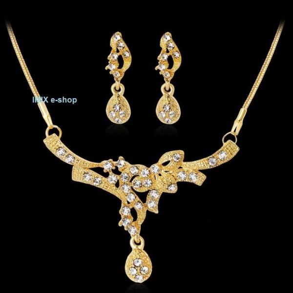 Štrasový náhrdelníkový komplet