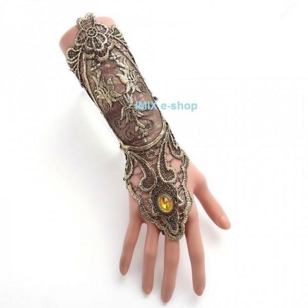 Gotická Retro Tribal krajková rukavička šněrovací