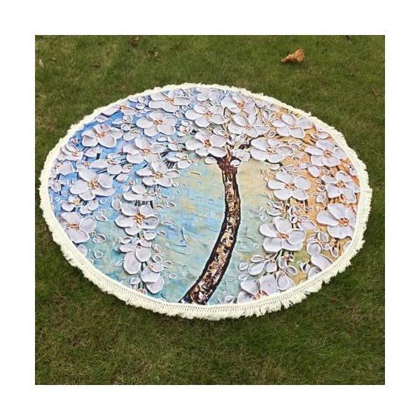 Ozdobný přehoz/podložka kruhový, Magnolie