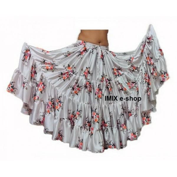Saténové sukně s digitálním tiskem Hollywood č.1
