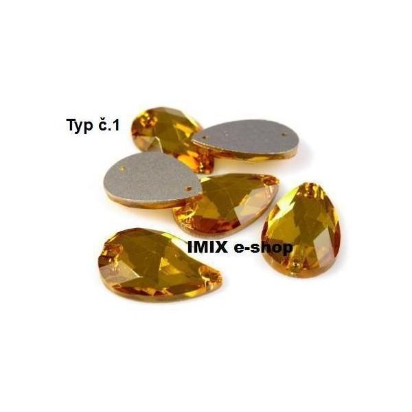 Kámen skleněný SLZA na našití