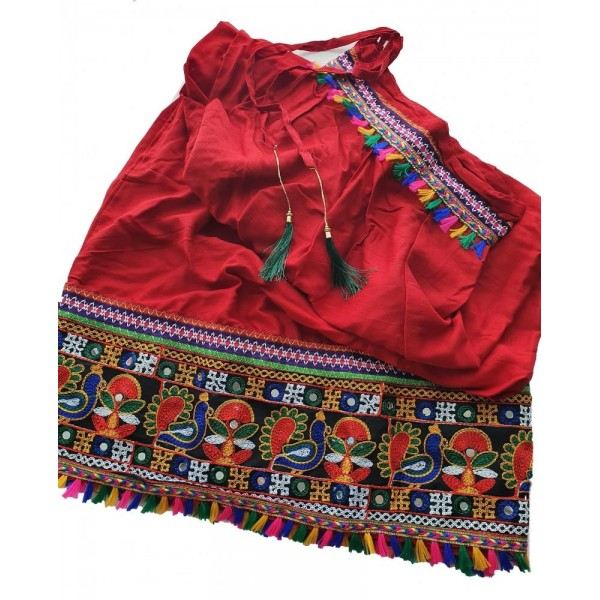 Indická Etno Bollywood sukně s ozdobnou výšivkou