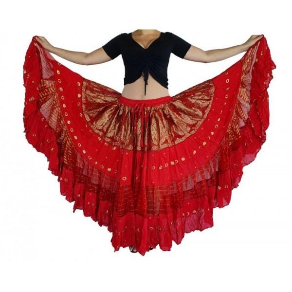 Skladem: orientální sukně se zlatou výšivkou Shia