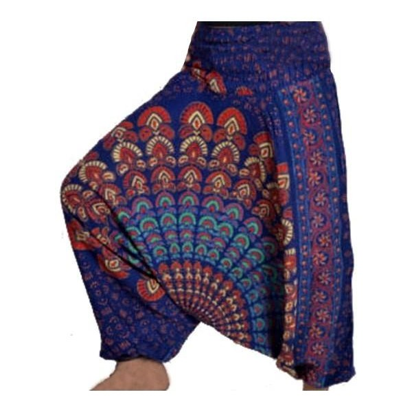 Harémové aladinské široké kalhoty Afgani Mandala