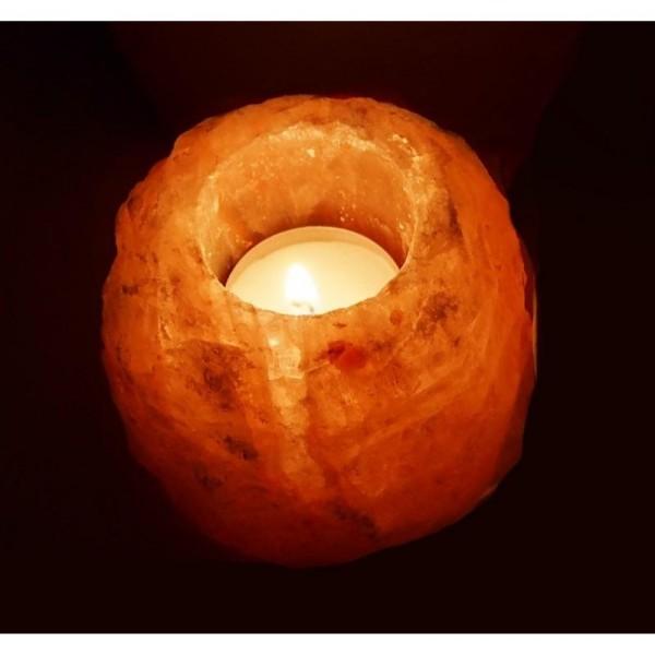 Solná lampa na jednu svíčku - menší