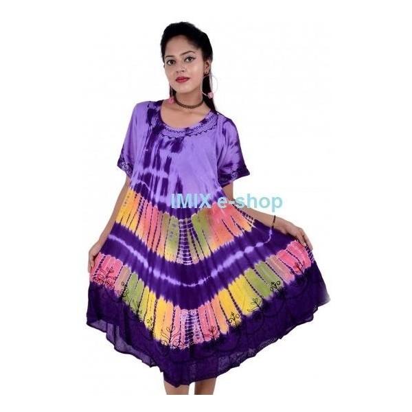 Batikované šaty s rukávem NITIN