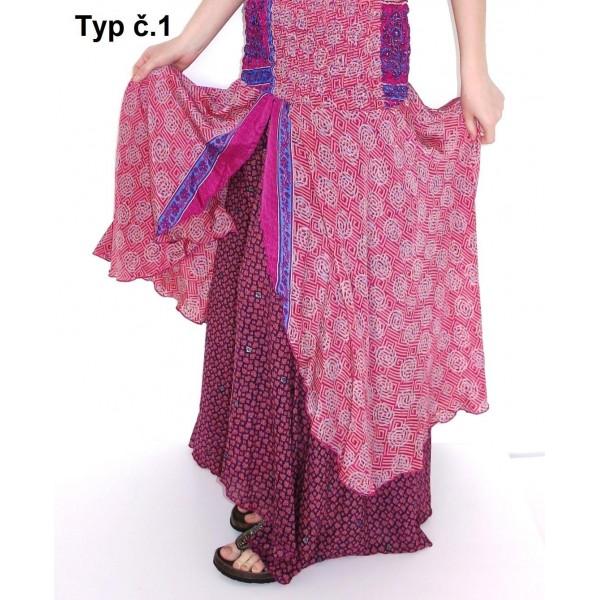 Orientální šaty - sukně z hedvábí