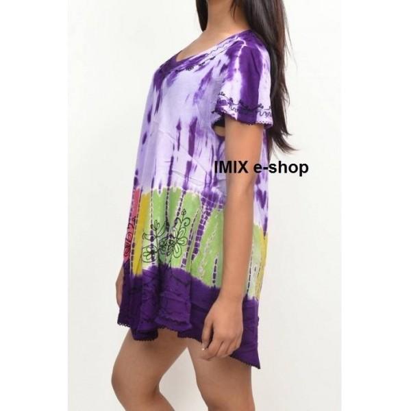 Batikované Etno letní exotické tričko s rukávem