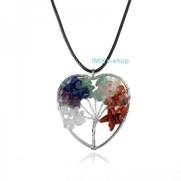 Čakrový náhrdelník Strom života uvnitř srdce