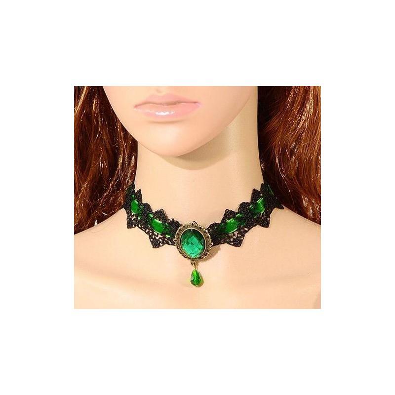 Gothic Retro Tribal náhrdelník barevný